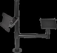 Virtuos Pole - Sestava - stojan s ramenem, držáky VESA a tiskárny