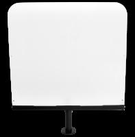 Ochranná clona z plexiskla s kovovým stojanem, nastavitelná výška