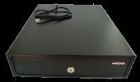 Pokladní zásuvka mikro EK-300, RJ12/24V, pořadač 3/4, černá