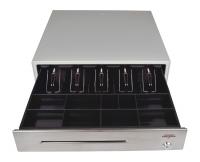 Pokladní zásuvka C430B bez kabelu, kov. držáky, nerez panel/béžová