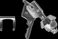 Zámek pro pokladní zásuvku Eurokazeta (Anker), 2 klíče