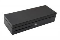 VÝPRODEJ - Pokladní zásuvka flip-top PCD-436P-B - s kabelem, černá