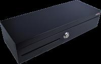 Pokladní zásuvka flip-top FT-460V-RJ10P10C, bez kabelu, se zam. krytem, černá