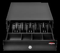 Pokladní zásuvka mikro EK-300V bez kab., pořadač 3/4, 9-24V, černá