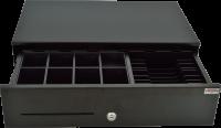 Pokladní zásuvka SK-500CB s kabelem, kov. pořadač 8/8, 9-24V, černá