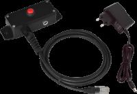 Tlačítko pro otvírání poklad. zásuvek Virtuos, kovové s kabelem