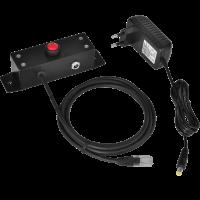 Tlačítko pro otvírání pokladních zásuvek Virtuos 24V, kovové s kabelem