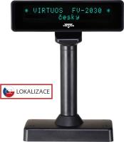 VFD zákaznic. displej Virtuos FV-2030B 2x20 9mm, serial, černý
