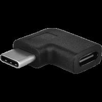 Redukce PremiumCord USB 3.1 C/male - C/female zahnutý konektor 90°