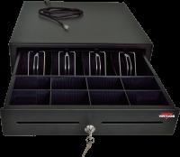 Pokladní zásuvka S-410 - s kabelem, pořadač 4/8, 24V, matná černá