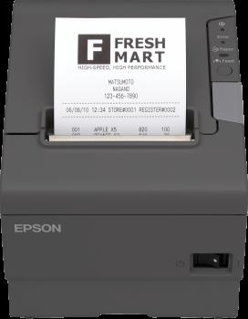 Tiskárna EPSON TM-T88V, řezačka, USB + serial (RS-232), tmavě šedá  - 1