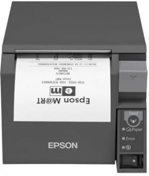 Tiskárna EPSON TM-T70II, USB + serial (RS-232), tmavě šedá  - 1