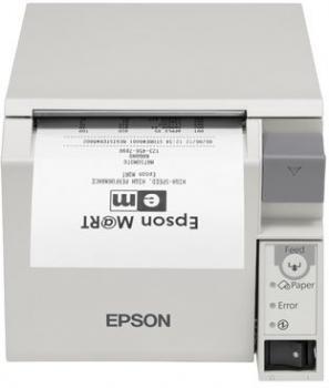Tiskárna EPSON TM-T70II, USB + serial (RS-232), světle šedá  - 1
