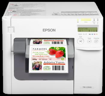 Tiskárna Epson ColorWorks C3500, tiskárna barevných etiket a vstupenek  - 1