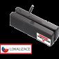 Třístopá čtečka magnetických karet MSR-100A, USB, černá - 1/3