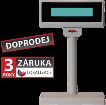 LCD zákaznický displej Virtuos FL-2024LW 2x20, USB, 5V, béžový  - 1