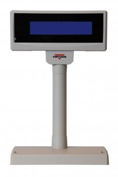 LCD zákaznický displej Virtuos FL-2024MB 2x20, serial, 12V, béžový, BAZAR  - 1
