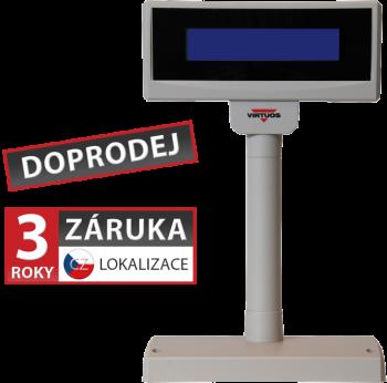 LCD zákaznický displej Virtuos FL-2024LB 2x20, USB, 5V, béžový  - 1