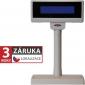 LCD zákaznický displej Virtuos FL-2024MB 2x20, serial, 12V, béžový - 1/2