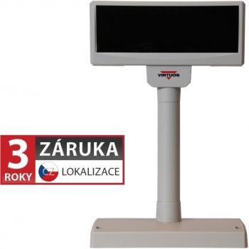 VFD zákaznický displej Virtuos FV-2029M 2x20 9mm, USB, béžový  - 1