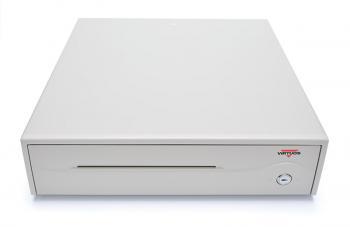 Pokladní zásuvka C420A - bez kabelu, 9-24V, béžová, BAZAR