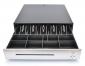 Pokladní zásuvka C430B - bez kabelu, kov. držáky, nerez panel/černá, BAZAR - 1/4