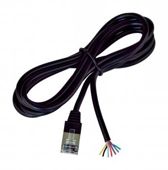 Univerz. kabel bez konektoru pro výrobu k pokl. zásuv., 1,5 m, černý