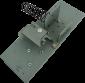 Základna pro elektromagnet pokladní zásuvky C420/C430 - 1/2