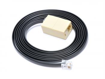 Prodlužovací kabel RJ12 pro pokladní zásuvku, 2 m, černý