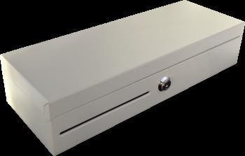 Pokladní zásuvka flip-top FT-460V4 - bez kabelu, se zam. krytem, bílá  - 1