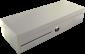 Pokladní zásuvka flip-top FT-460V4 - bez kabelu, se zam. krytem, bílá - 1/6