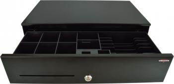 Pokladní zásuvka SK-500C - s kabelem, pořadač 6/8, 9-24V, černá  - 1