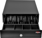 Pokladní zásuvka mikro EK-300C s kabelem, pořadač 3/4, 9-24V, černá - 1/7