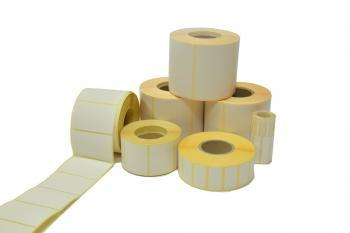 Etikety 40 x 20 mm 1000 ks / 40 bílé, termo papír