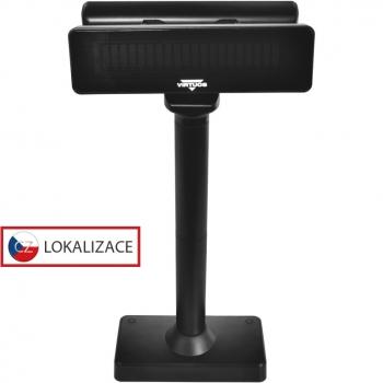 Sestava dvou VFD zákaznických displejů FV-2030B USB + držák 75 x 25  - 1