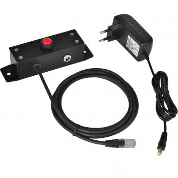 Tlačítko pro otvírání pokladních zásuvek Virtuos 12V, kovové s kabelem  - 1