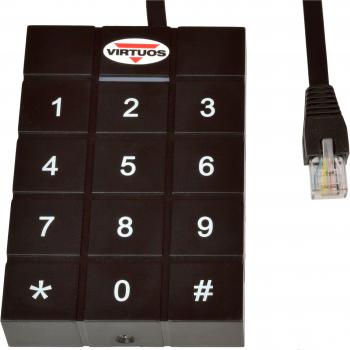RFID 125 kHz adaptér s klávesnicí pro pokladní zásuvky Virtuos 24V  - 1