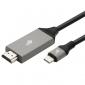 Kabel USB propojovací, USB 3.1 C Male - HDMI 2.0V Male, 2 m - 1/2