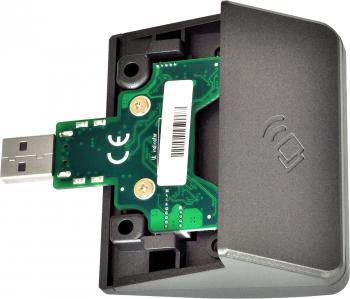 Čtečka RFID karet pro XPOS, 125 kHz, USB (emulace RS232), šedá