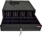 Pokladní zásuvka S-410 - s kabelem, pořadač 4/8, 24V, matná černá - 1/7