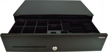 Pokladní zásuvka SK-500 - bez kabelu, pořadač 6/8, 9-24V, černá  - 1