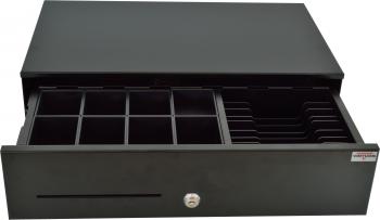 Pokladní zásuvka SK-500B bez kabelu, kov. pořadač 8/8, 9-24V, černá  - 1