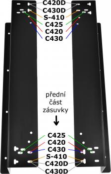 Držáky pro zavěšení pokladní zásuvky C420/C425/C430/S-410, černé  - 2