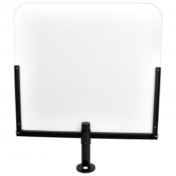 Ochranná clona z plexiskla s kovovým stojanem, nastavitelná výška  - 2