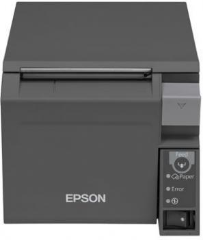 Tiskárna EPSON TM-T70II, USB + serial (RS-232), tmavě šedá  - 2