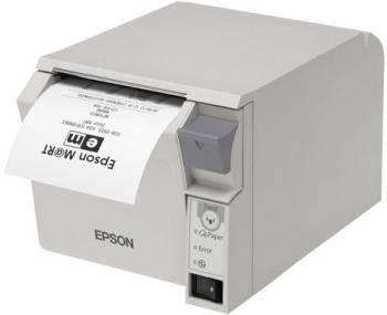 Tiskárna EPSON TM-T70II, USB + serial (RS-232), světle šedá  - 2