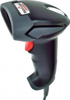 Laserová čtečka Virtuos HT-900A, USB, stojánek, černá  - 2