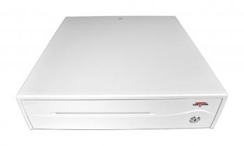 Pokladní zásuvka C420C - s kabelem, 9-24V, jasně bílá  - 2