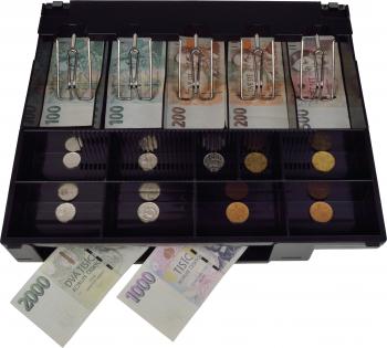 Plastový pořadač na peníze pro C410/C420/C430, kovové držáky bankovek  - 2