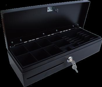 Pokladní zásuvka flip-top FT-460V1-RJ10P10C, bez kabelu, bez zam. krytu, černá  - 2